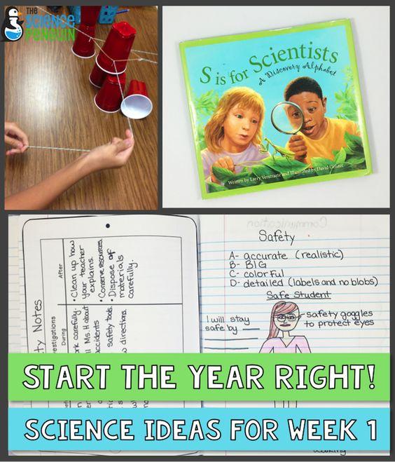 Upper Elementary Science Ideas for Week 1