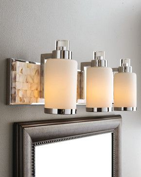 How High To Hang Vanity Lights : Capiz Shell Mosaic Tile Mother-of-Pearl Bathroom Vanity Light Bar - contemporary - bathroom ...