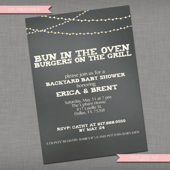Coed Baby Shower Invitation - Printable Couples' Custom Baby Shower Invitation