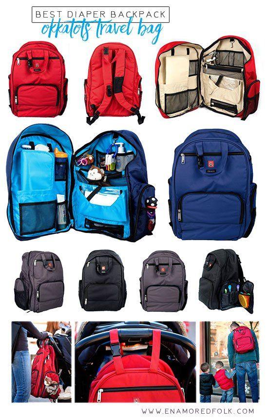 Best Diaper Backpack: Okkatot Travel Bag   Review at www.enamoredfolk.com