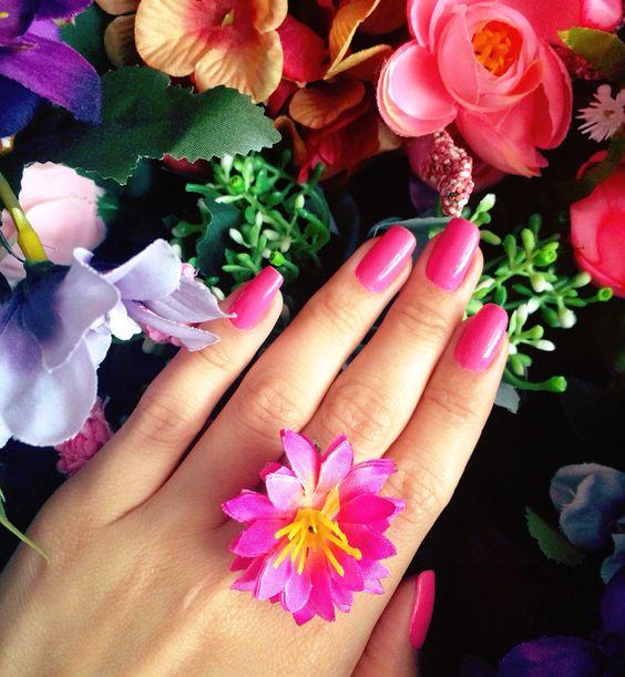 Sempre flores!!!  Anel de brinde do Ateliê Endy Mesquita