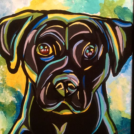 Gunner the black lab I love ❤️ the colour scheme of this piece
