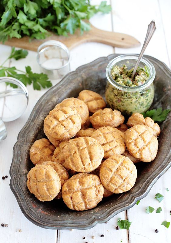 Vegan Hungarian Sweet Potato Biscuits (with GF option):