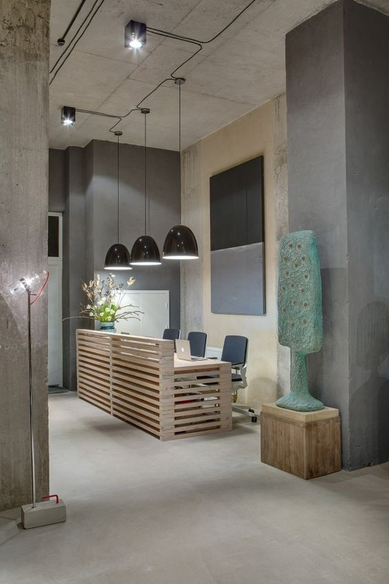 office reception design use the pallet wood for this reception desk only need room for one bhdm design office design 1
