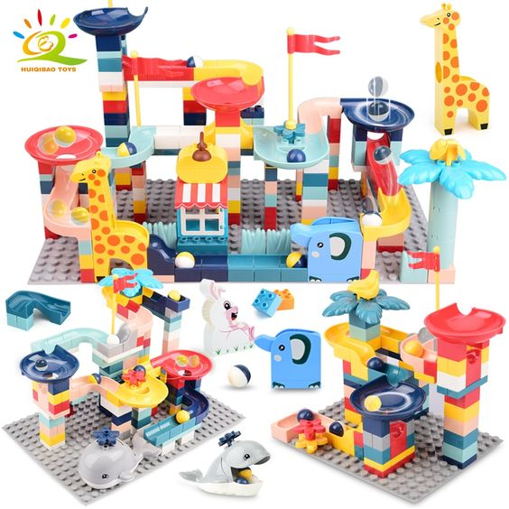Racing Toy Game Building and Stacking Toy for Kids 20pcs Blocks Set