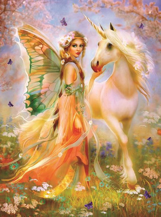 Fairy Princess and Unicorn (1000 Piece Puzzle by SunsOut)