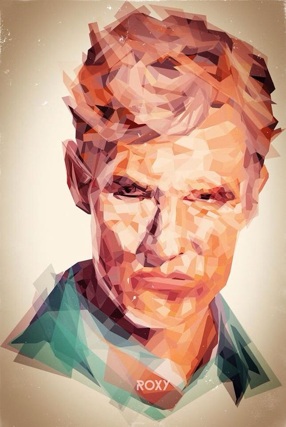 Roxy Color on Behance My drawing of Rust from true Detective  #drawing #illustration #true detective #fan art #rust cohle #matthew mcconnaughey #man illustration #man drawing #artwork #low poly #digital portraits