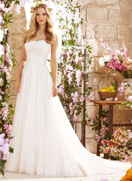 ... Übliche Nein Frühling Sommer Herbst Elfenbein Weiß Brautkleid