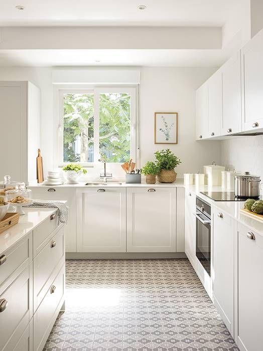 Dimensiones Minimas Los Centimetros Importan Cocinas Pequenas Decoracion De Cocina Diseno De Cocina Suelos Cocina