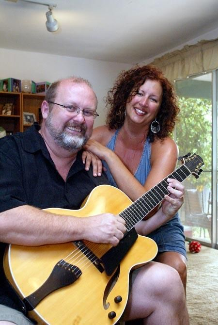 "A jazzy duo: Holly Taylor and Eric Peter -Chico ER. In addition to their full schedule of gigs, the couple has also recorded four CDs, including an 11-track Christmas album featuring delightful classics such as ""Santa Baby,"" ""Let it Snow"" and ""White Christmas"" and a 12-track compilation of live recordings that includes a bossa nova version of ""My Funny Valentine,"" ""Autumn Leaves"" and a beautiful guitar solo called ""Polka Dots and Moon Beams."" Purchase music at Made in Chico…"