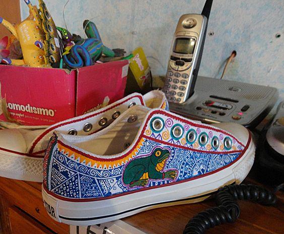 Alebrije design tennis shoes - Oaxaca