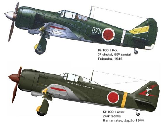 AVIÕES MILITARES: Nakajima Ki-100 Hien (Tony)