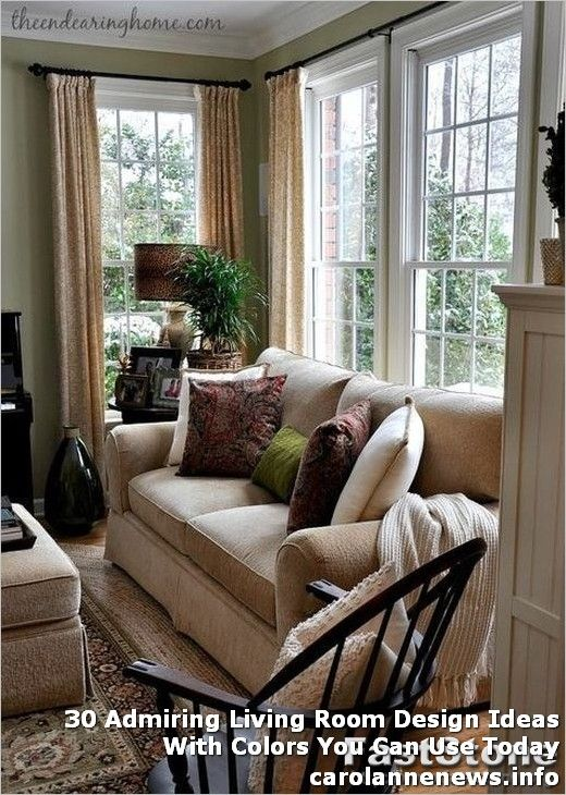 30 Admiring Living Room Design Ideas With Colors You Can