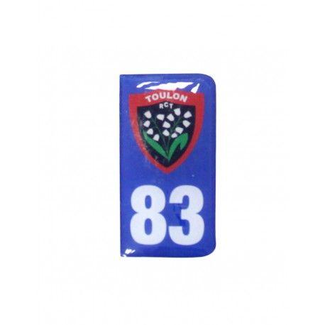 Autocollant 3D Plaque Immatriculation Moto / RC Toulon