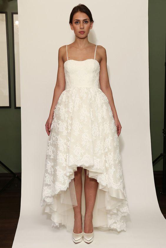 Vestido de novia mullet dress de Temperley London (FW 2014) #weddingdresses #NYBW