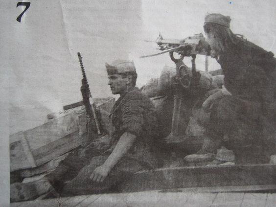 october 1943. near Bol, Brač island, on one of partisan armed ships WW2-YU