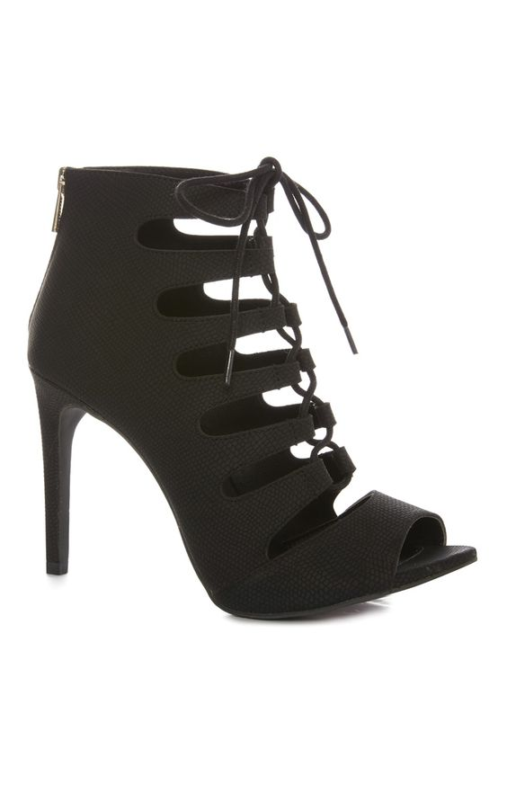Primark - Black Closed Ghillie Heel