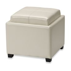Safavieh Hudson Leather Harrison Single Tray Ottoman - Brown