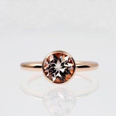 1.91ct Morganite ring Rose gold engagement by TorkkeliJewellery