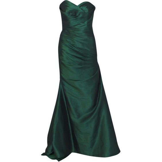 Strapless Ruched Evening Gown ($125) ❤ liked on Polyvore featuring dresses, gowns, lace up dress, strapless sweetheart dress, strapless dresses, ruched evening gown and sweetheart ball gown