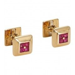 Gold & Ruby Cufflinks  :  Tiffany & Co.