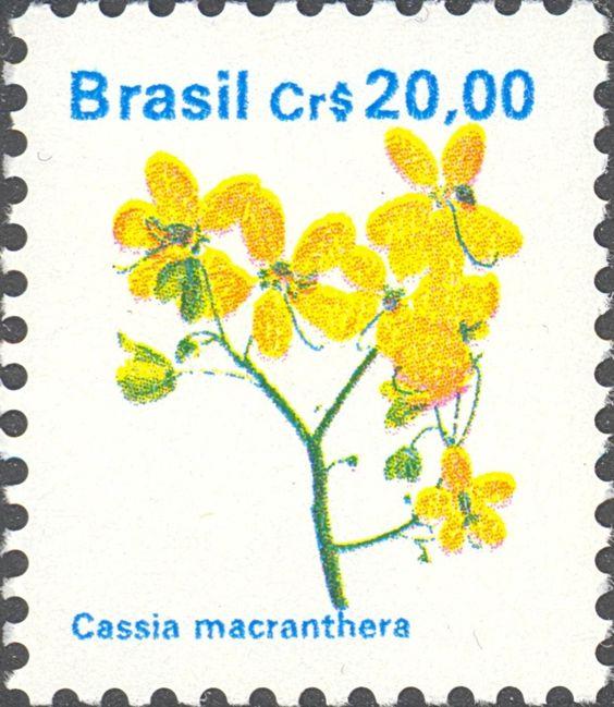 Selos: Brazilian Flora. Cassia macranthera (Brasil) (Flora) Mi:BR 2356,Yt:BR 1963,RHM:BR 680