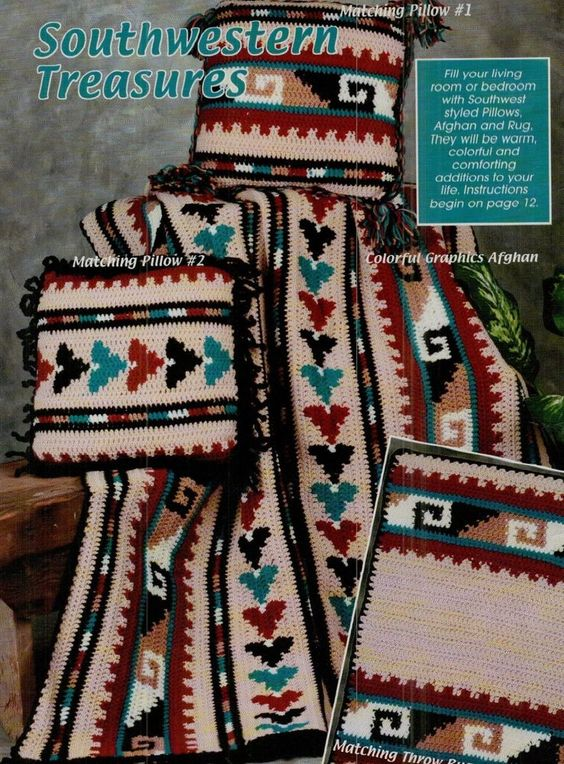 Crochet Pattern Southwestern Afghan : Crochet patterns, Free pattern and Patterns on Pinterest