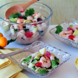Yuzu #Shrimp and Halibut Ceviche. The Perfect Summer Party appetizer