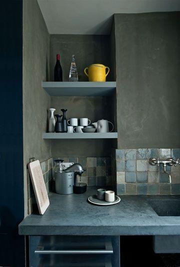 chaux + béton ciré // Robert Gervais, architecte d'intérieur // Photographe : Christophe Theurer