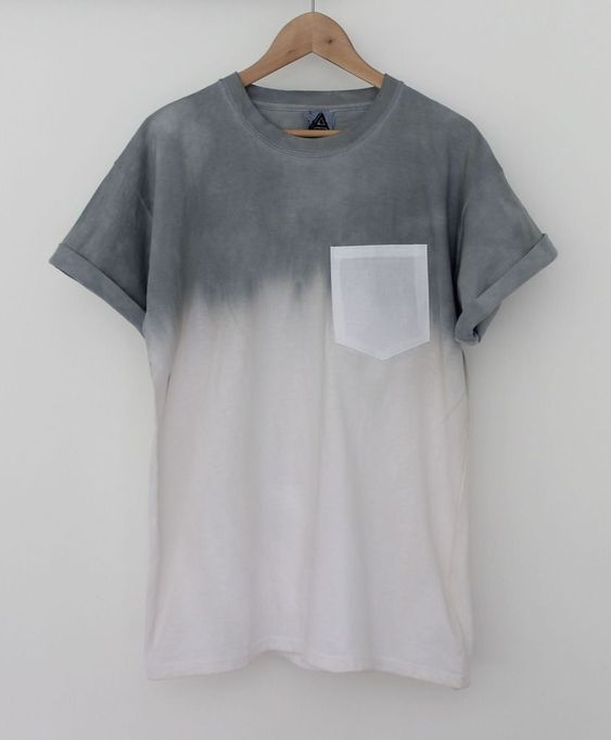 Cool grey ombre t-shirt.