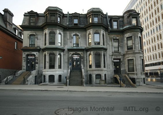 rue MacKay Typical Duplex and triplex Downtown Montreal - Images Montreal built on 1885