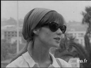 Françoise Hardy à ajaccio en 195
