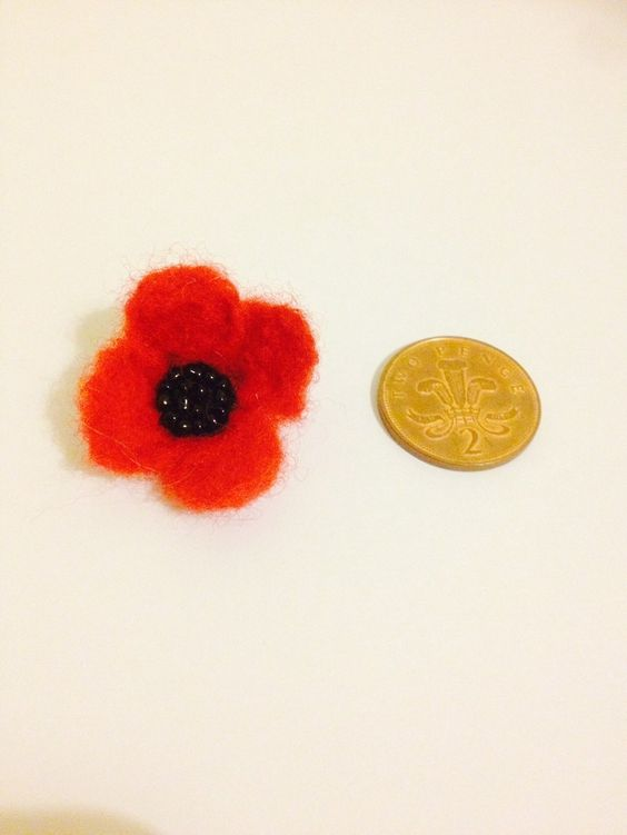 Poppy Brooch via heartfeltgifts. Click on the image to see more!
