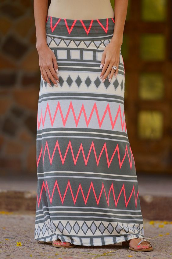 Take A Chance On Me Maxi Skirt - Neon Coral from Closet Candy Boutique