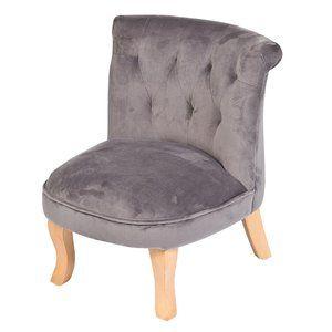 Samt Polstersessel Fur Kinder Grau Natur Ca 52cm Kindersofa Kinder Sofa Kinder Sessel