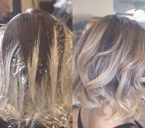 12 Balayage Bob Frisur Frisuren Pinterest Frisur Haar Und Frauen Haare Short Hair Balayage Balayage Hair Short Hair Styles