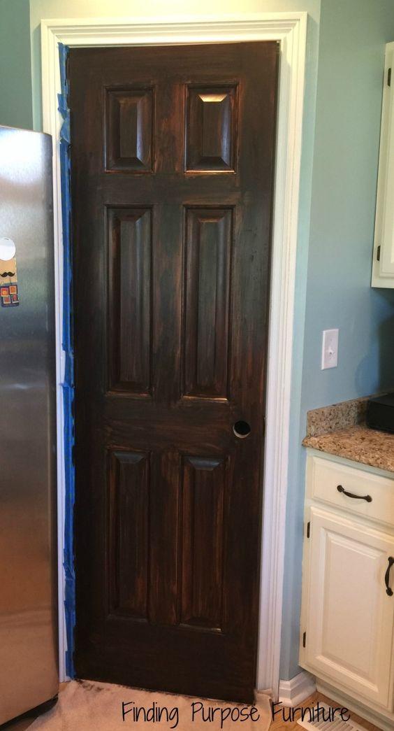 Using Java Gel Stain to Update a Pantry Door