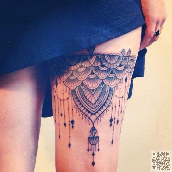 28. #Oberschenkel Tattoo - #Warten, bis Sie diese 28 #schöne…                                                                                                                                                      Mehr