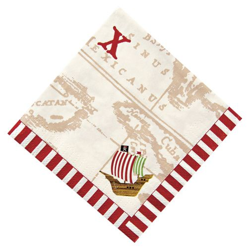 pirate map party napkins