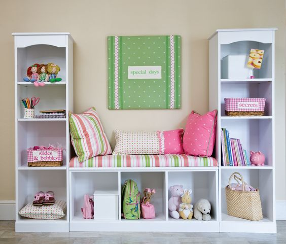 3 small bookcases to make a reading nook
