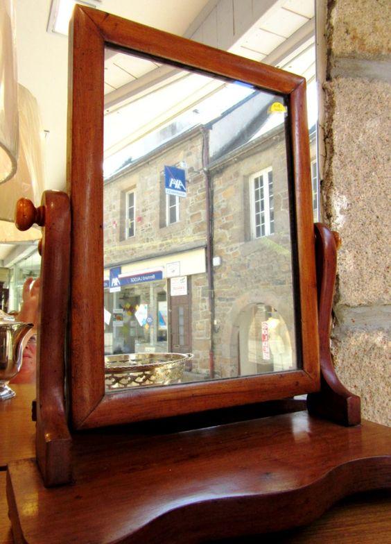 Petit miroir anglais sur pied au vieux chaudron paimpol - Petit miroir sur pied ...