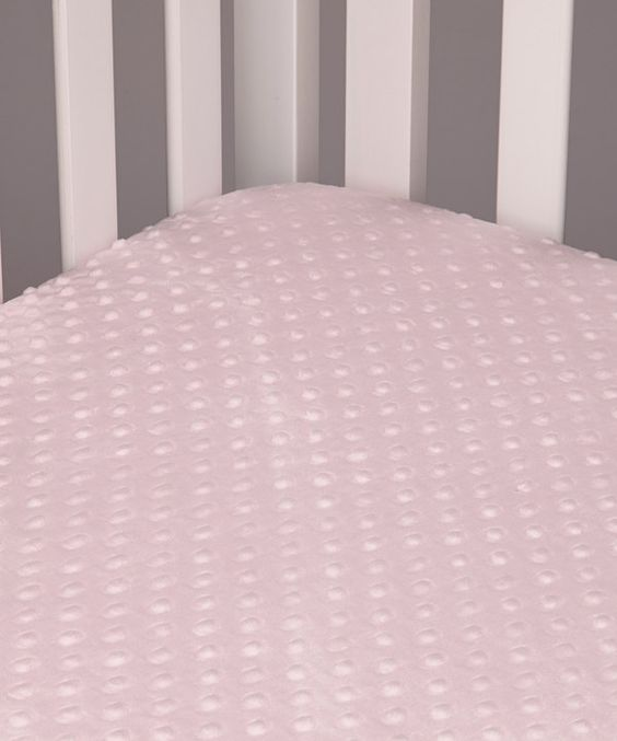 Take a look at this Lolly Gags Baby Pink Minky Dot Fitted Crib Sheet on zulily today!