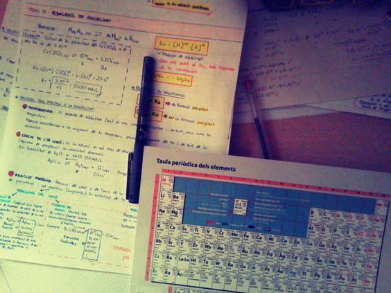Estudiando Química Básica II. Universitat de Barcelona.