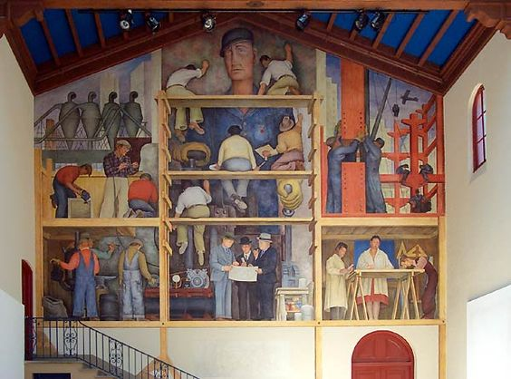 The Murals Of Diego Rivera - He Painted Himself Painting A Mural