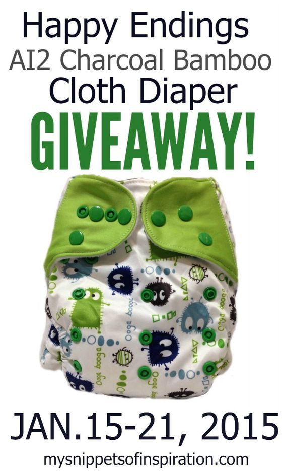 Happy Endings Charcoal Bamboo Cloth Diapers.