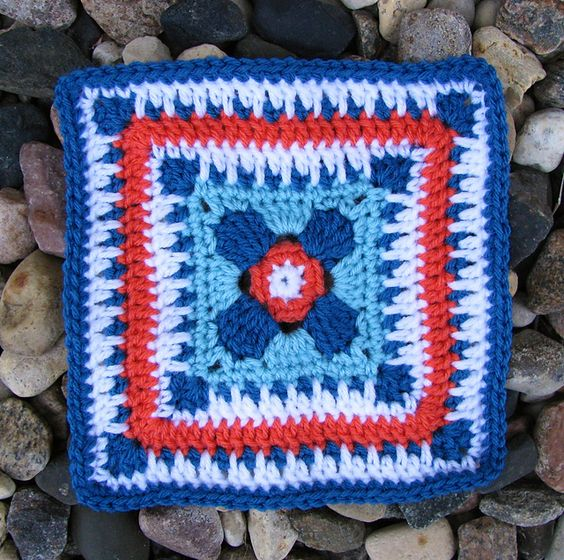 Ravelry: Project Gallery for Granny Square 63 pattern by Cynthia Lark