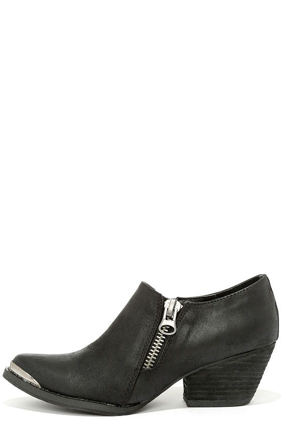 Very Volatile Ralla Black Pointed Ankle Boots | Ankle boots Boots
