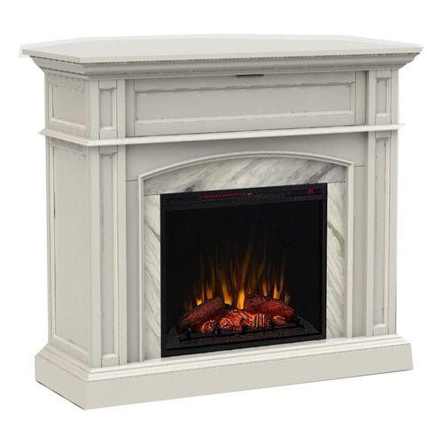 Shop Scott Living 46 5 In W 5100 Btu White Wood Corner Or Flat