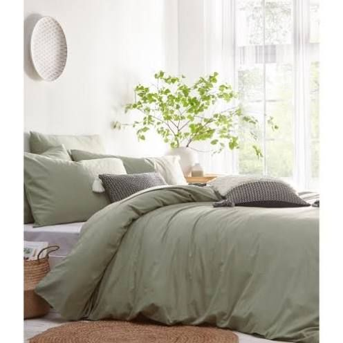 The Linen Yard Stonehouse Duvet Cover Set Sage Green Cotton Duvet Cover Set Google Shopping Sage Green Bedroom Green Bed Sheets Green Bedding