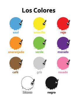 Worksheet Spanish Level 1 Worksheets vocabulary words colors and spanish on pinterest los colores handout worksheets for level 1